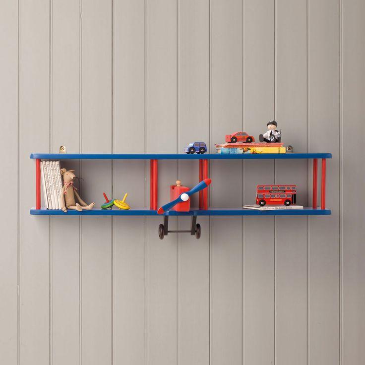 Striking Metal Shelving Design To Increase Your Storage Space: Bi-Plane Wall Shelf