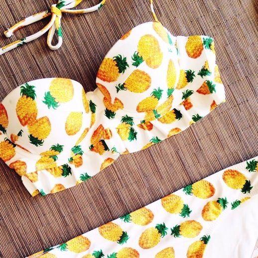 retro pineapple bikini