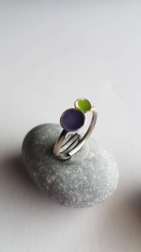 Check out this item in my Etsy shop https://www.etsy.com/listing/590651090/handmade-silver-ring-with-enamel