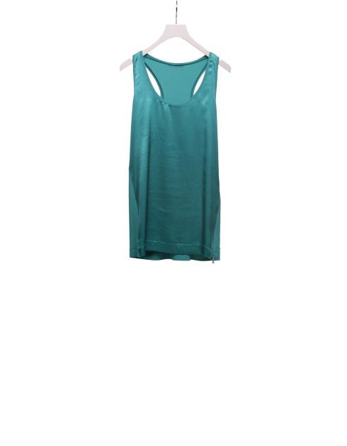 Maglia in raso seta. Turquoise