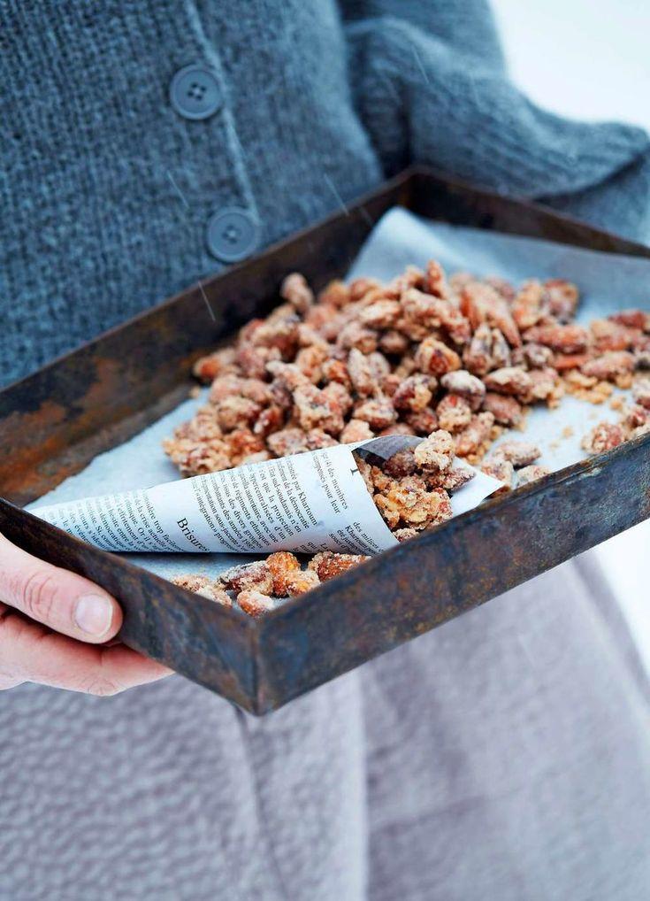recept på hemgjorda brända mandlar