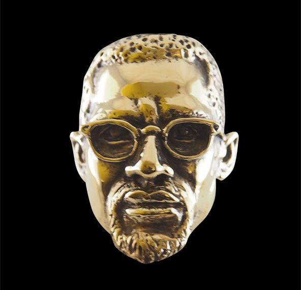 Bronze Malcolm X Ring from Jax Biker Jewellery by DaWanda.com