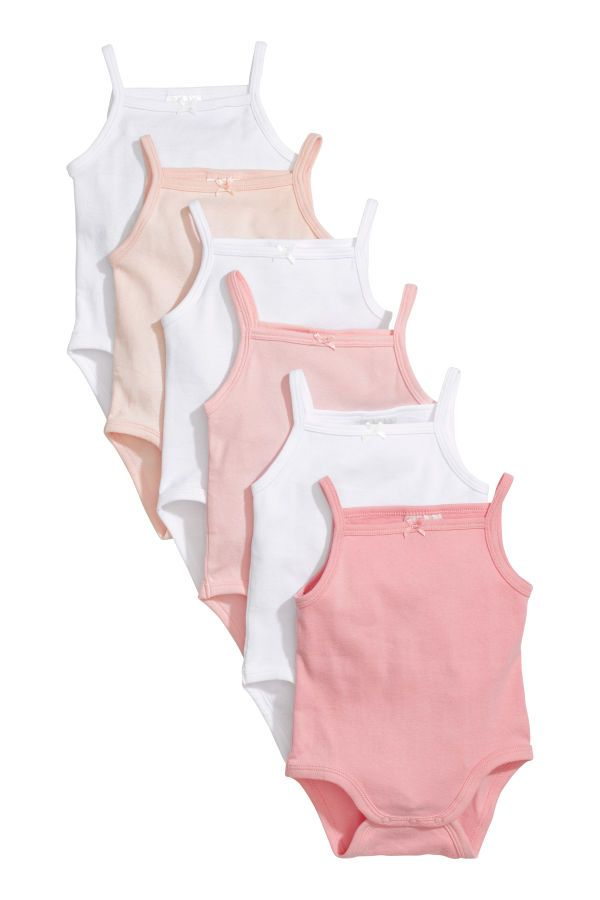 4343e709a7d5 Sleeveless bodysuits in soft, ribbed jersey made from organic cotton. Snap  fasteners at gusset.