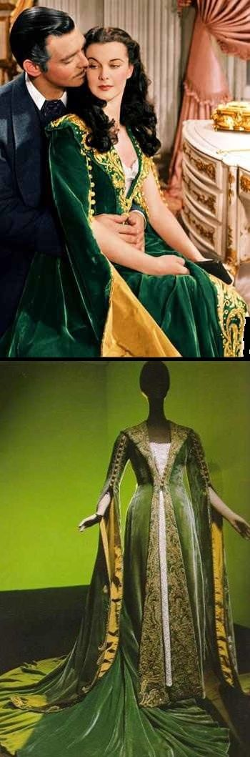 Gone with the Wind. Vivien Leigh green gown. Scarlet O`Hara