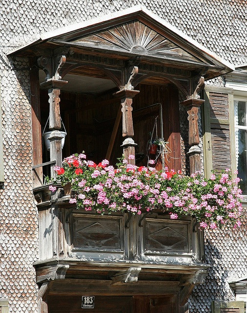Fabulous window in Bezau, Austria - it just doesn't get more quaint than this!