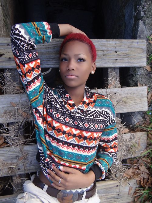 #cute #shirts #fashion #tribal #aztec #prints #patterns #orange #black #brown #Blue #multicolored #colorful #redhair #style