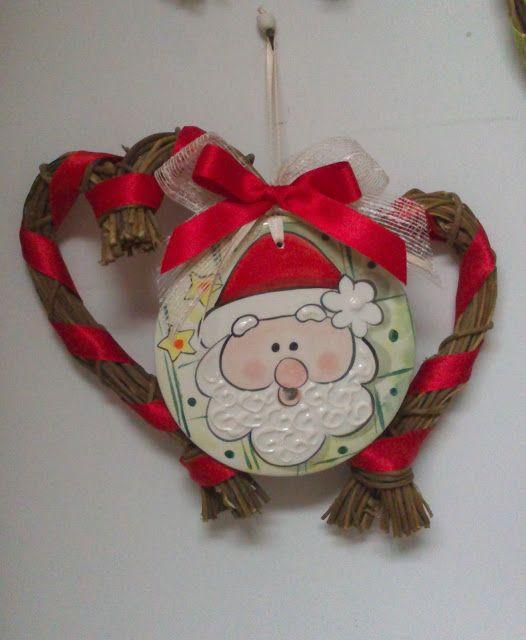 ceramica come mestiere: Decorazioni natalizie per la casa. Babbo Natale.