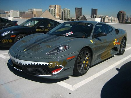 """Ferrari F430 """"GUMBALL 3000."""" Never thought I'd see a cool paint job like this on a Ferrari"""