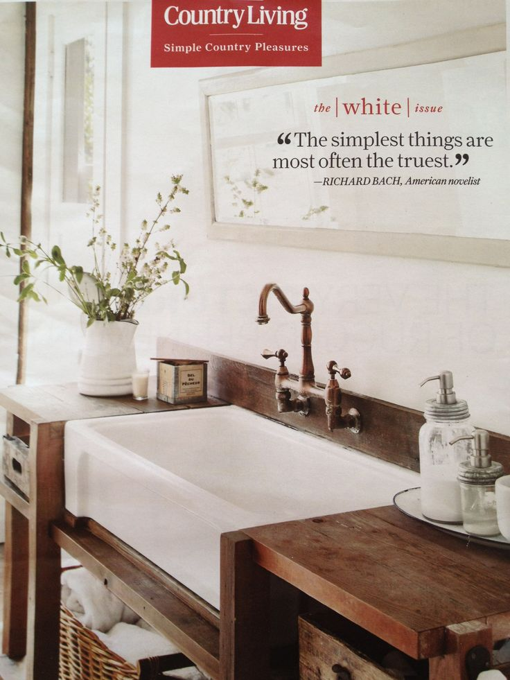 Photo Gallery On Website farm sink in a simple wood vanity wall mount faucet