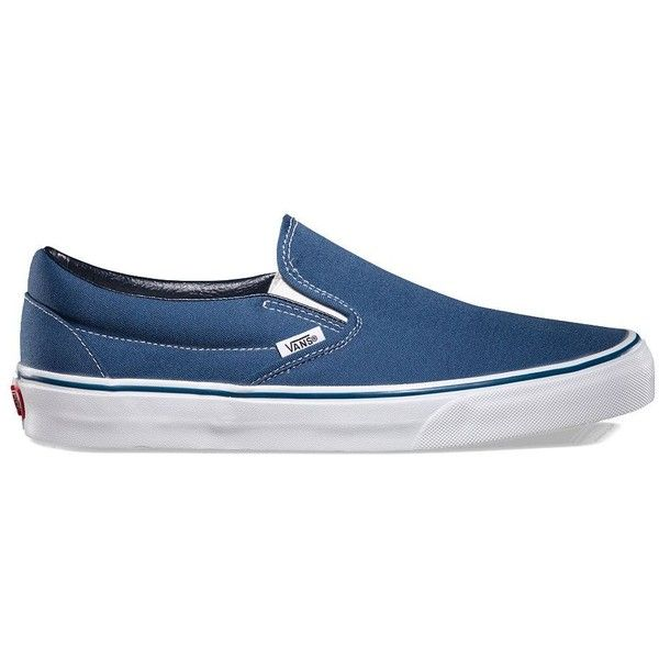 Vans Slip-On ($50) ❤ liked on Polyvore featuring shoes, sneakers, navy, slip-on, vans, blue, navy blue sneakers, slip-on sneakers, slip on shoes and navy sneakers