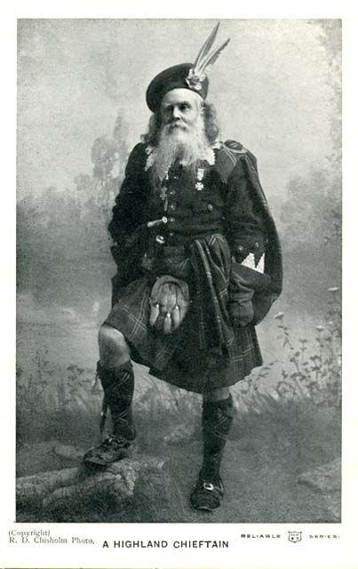 +~+~ Antique Photograph ~+~+ Highland Cheiftain