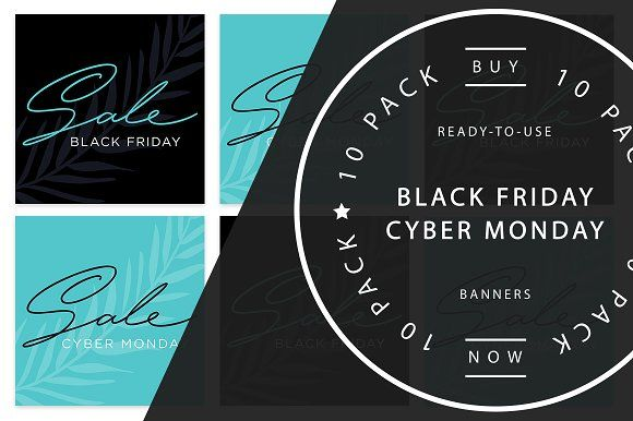 BLACK FRIDAY / CYBER MONDAY Banners by LW Creative on @creativemarket