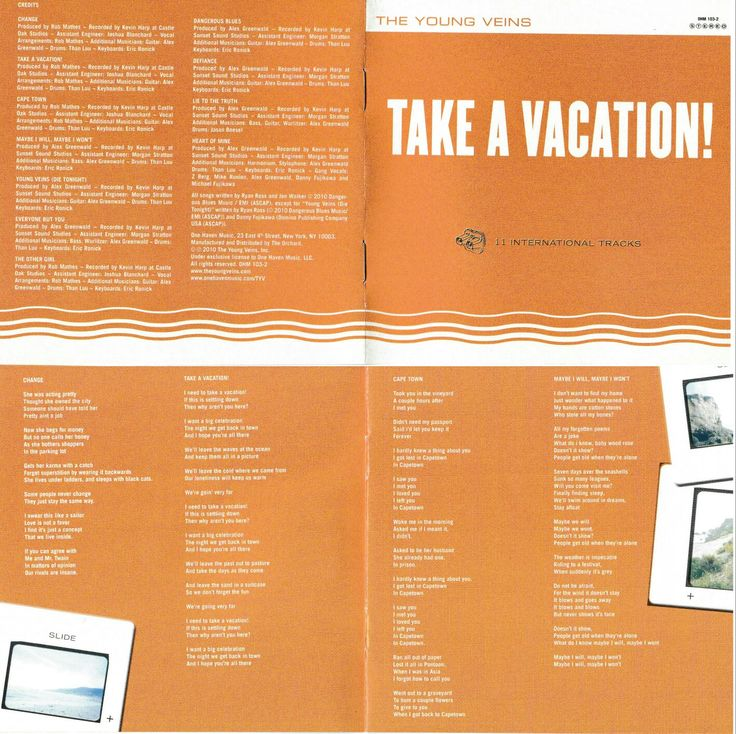 Take A Vacation! // The Young Veins