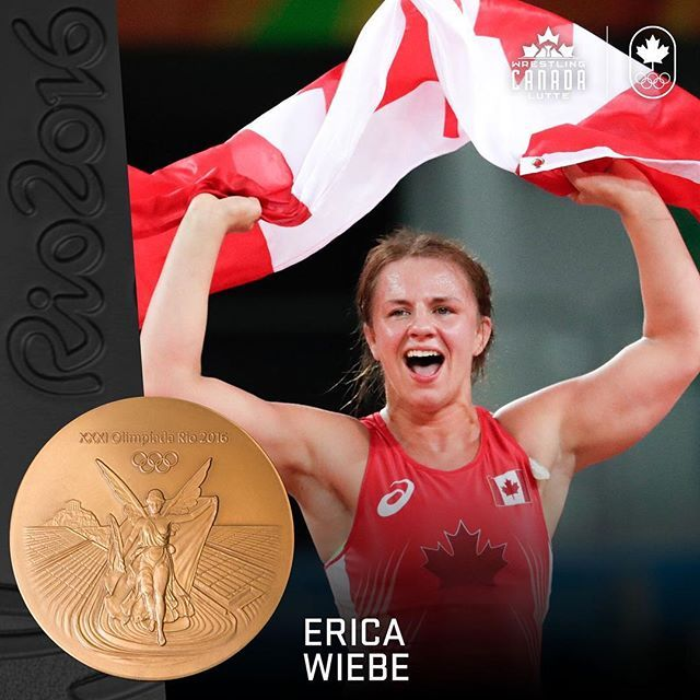 #Olympic Champion @eweebz wins the 75kg women's freestyle wrestling final. 🙌🏼🇨🇦❤️ // Erica Wiebe, championne olympique des 75 kg. 👍❤️🇨🇦