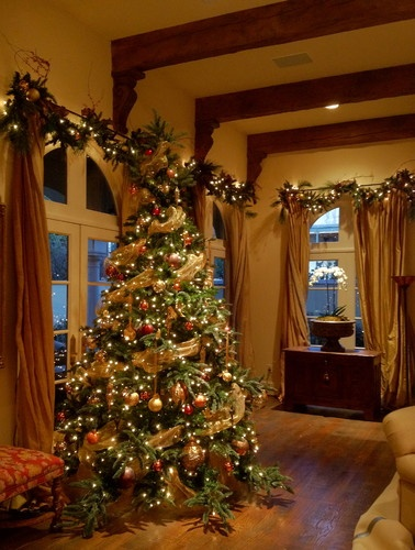 Lovely in Gold.  Google Image Result for http://st.houzz.com/simages/1441251_0_4-2613-traditional-holiday-decorations.jpg