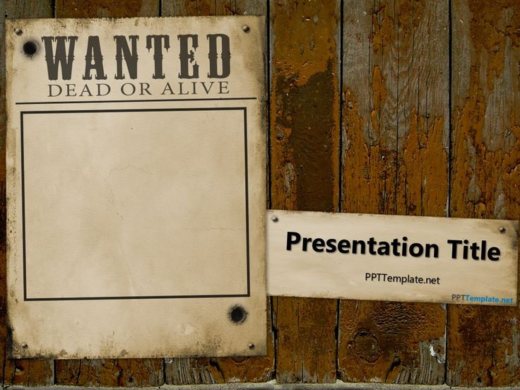 8 best Free PowerPoint Templates images on Pinterest Ppt - printable wanted posters
