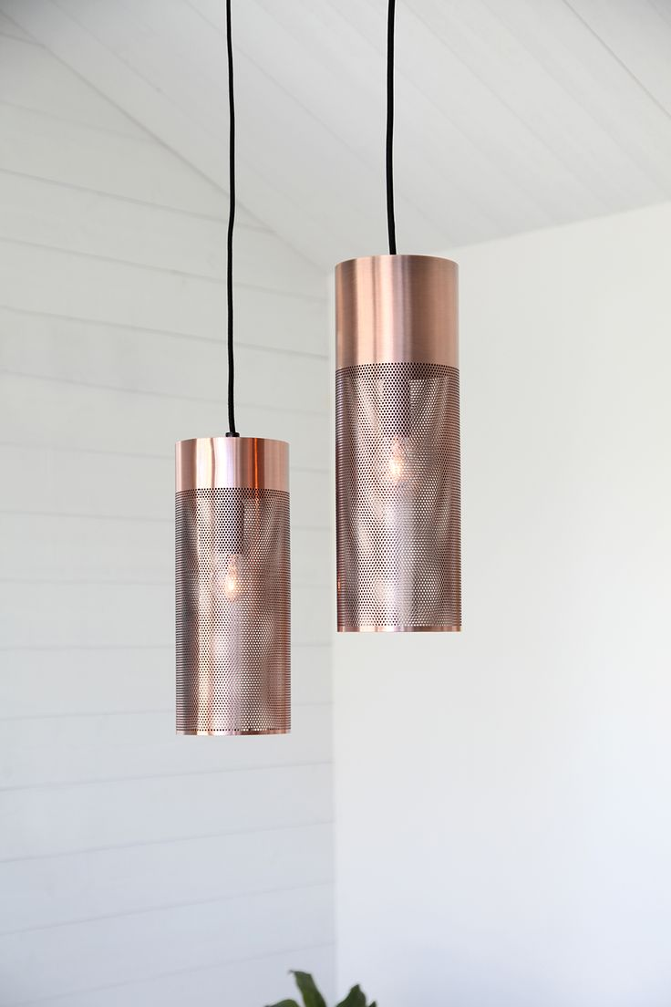 Two of us hanginglamp in copper, design Åsa Gessle