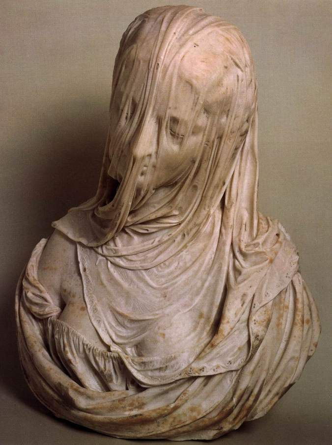 Bust of a Veiled Woman (Puritas), 1717-25 Marble Museo del Settecento Veneziano, Ca' Rezzonico, Venice
