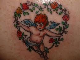 Cherub Tattoos And Meanings-Cherub Tattoo Designs And Ideas-Baby Angel Tattoos