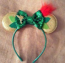 Disney Peter Pan Mickey Mouse Ears Headband- handmade-tinkerbell-Disney World