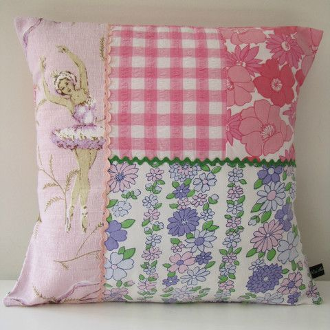 Vintage Ballerina Cushion Cover http://missmollycoddle.co.nz/collections/missmollycoddle