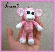Samyelinin Örgüleri: Maymun Anahtarlık Tarifi / Monkey Keychain Free Pa...