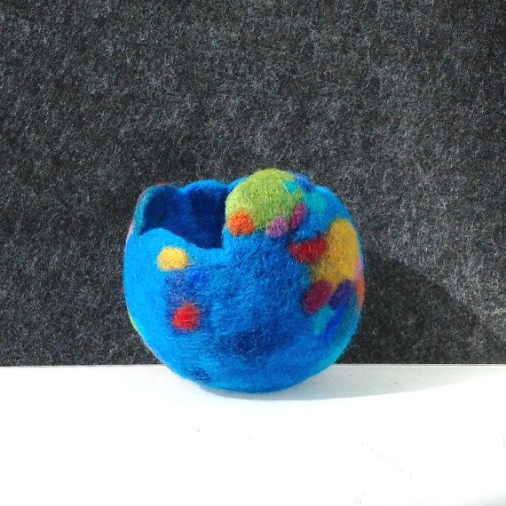 Felted wool planter. Original planter for cactus by lululalaine