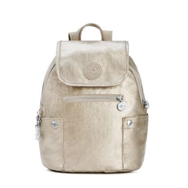 Abygail Metallic Backpack - Champagne Metallic