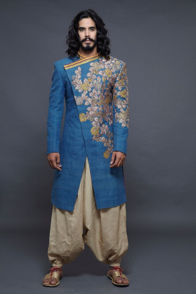 Kalam Kari Sherwani By Sagar Tenali Indian Men Fashion