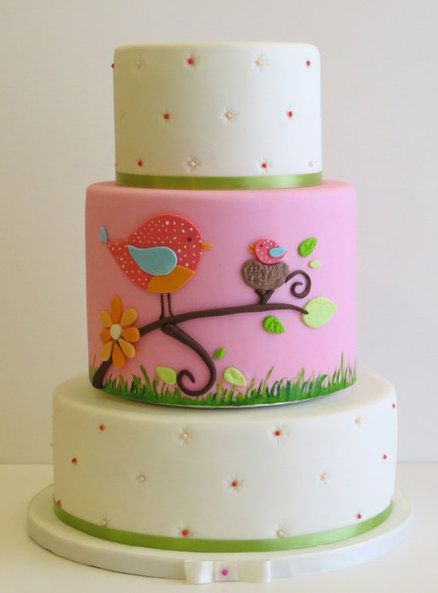 Baby Shower cake and cupcakes - by ChantillyCakeDesigns @ CakesDecor.com - cake decorating website