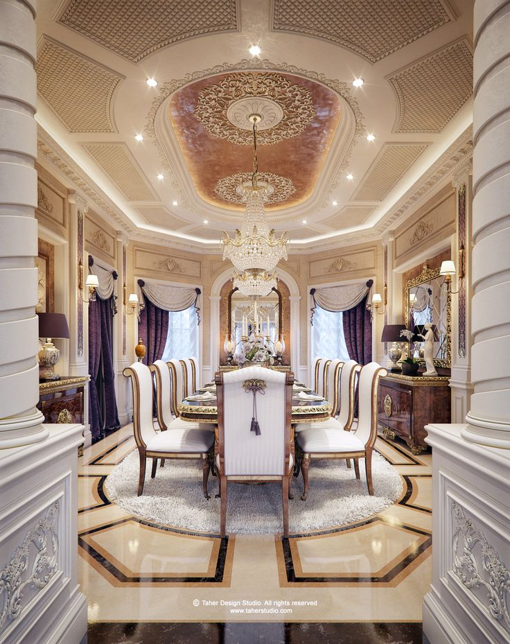 Luxury Mansion Interior Qatar RoomsClassic InteriorFine DiningDesign