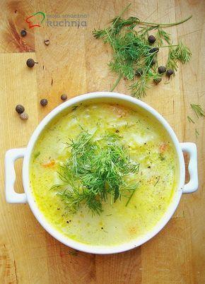 moja smaczna kuchnia: Jarzynowa zupa z młodą kapustą, marchewką, groszkiem i ziemniaczkami z dodatkiem koperku