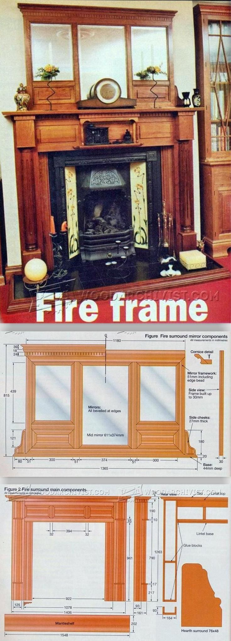 Fireplace Mantels Plans - Woodworking Plans and Projects | WoodArchivist.com