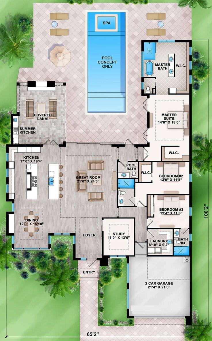 House Plan 20700084 Modern Plan 3,083 Square Feet, 3