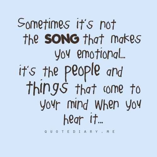 To each of us a song means something different. A different memory and a different emotion.