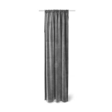 Gardin sammet, 140x240 cm, grå