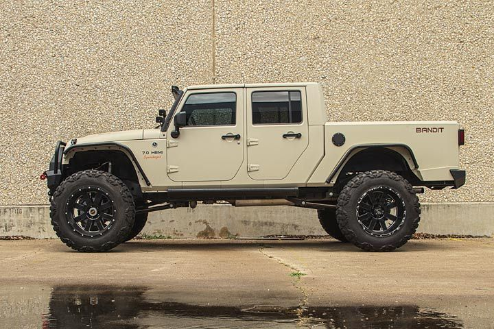 For years, the Jeep faithful have begged the company to build a pickup truck variant of its perennial strong-seller, the Jeep Wrangler, and come 2018 it appears they'll finally get one. We won't string you along—this isn't it, however some Jeepers will surely wish it was. It's giant, it's supercharged