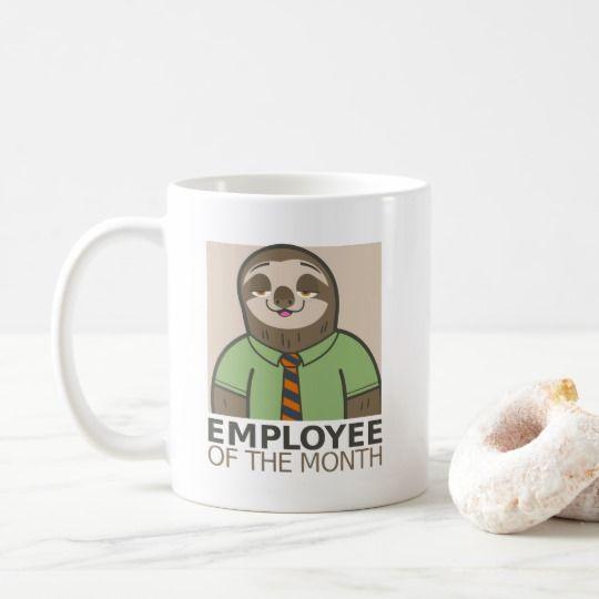 Personalized Employee Mug #sloth #humor