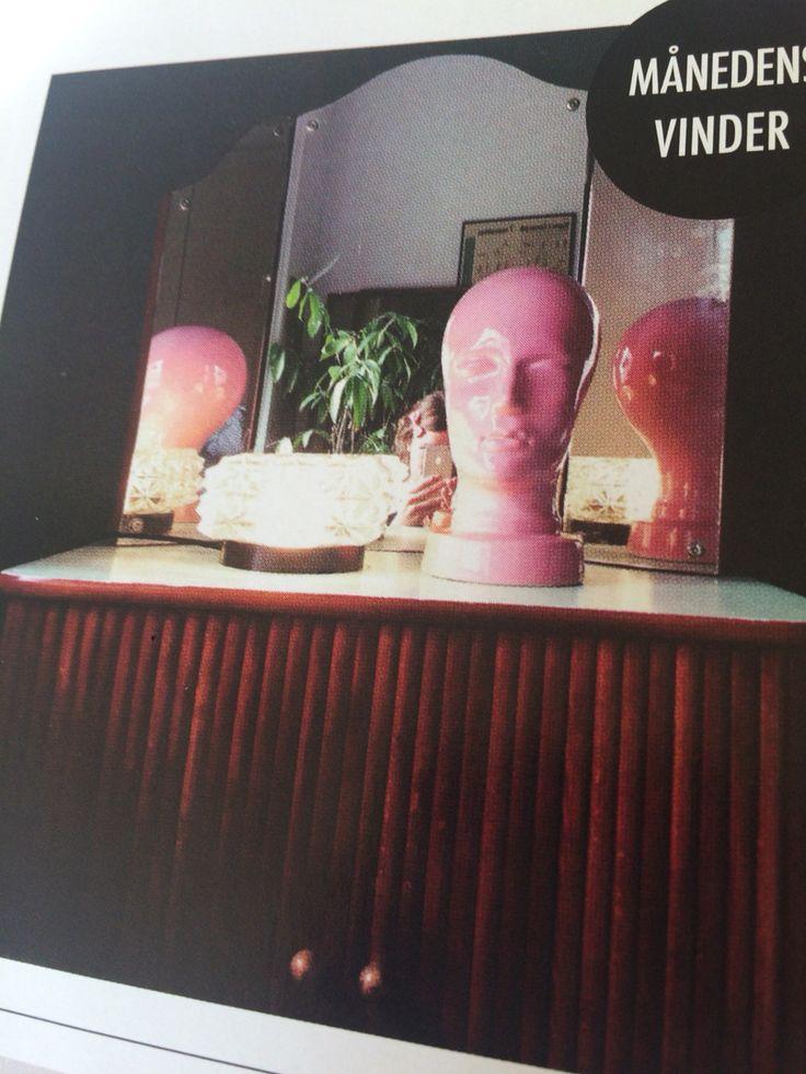 DIY Gammel 70'er lampe som bordlampe