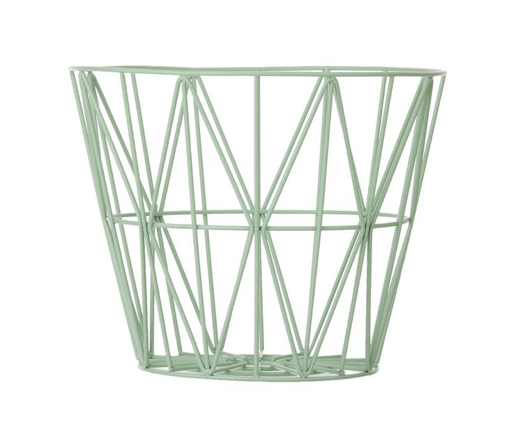 OPPBEVARINGSKURV - FERM LIVING WIRE BASKET S (MINT)