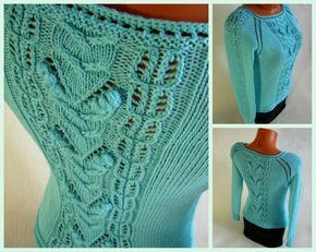 Бирюзовый пуловер регланом