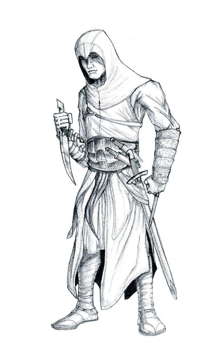 Coloriage Assassins Creed A Imprimer