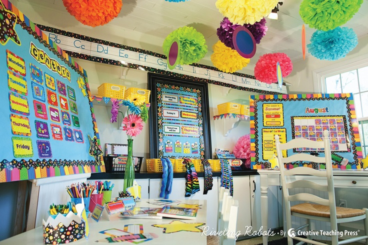 The Creative Teaching Press Poppin' Patterns decor line has never looked so good! See amazing classroom ideas styled by Schoolgirl Style in CTP's new back-to-school catalog!    #schoolgirlstyle