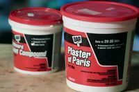 How to Waterproof Plaster of Paris   Coat the plaster with a waterproofing agent, such as Waterblok or marine resin, which penetrates through the surface pores. Let the agent dry completely.  Repeat  as needed to completely seal the plaster object, letting each layer dry completely. When dried, you will have a plain waterproof plaster object.  5 Apply your paint colors as desired, over the dried waterproofing agent. Let dry   6 Spray with a clear sealer or shellac to protect the paint job
