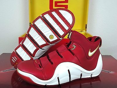 DS RARE NIKE ZOOM LEBRON 4 IV CHINA EDITION SZ 9.5 - RED WHITE GOLD 314647-611