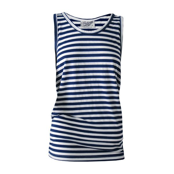 Navy Blue and White Stripey Vest ($12) ❤ liked on Polyvore featuring outerwear, vests, navy vest, navy waistcoat, navy blue waistcoat, navy blue vests and vest waistcoat