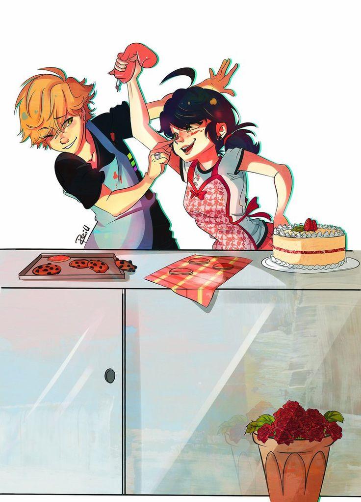 Baking ^^ So cute!