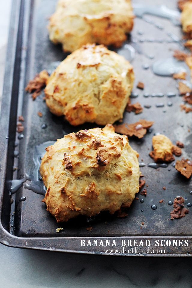 Banana Bread Scones: The sweet and delicious taste of Banana Bread in the form…