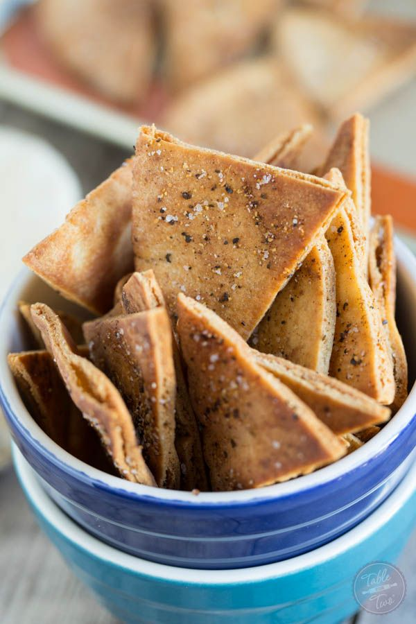 Homemade seasoned pita chips are so easy to make and perfect to pair with your favorite dip and game on TV!