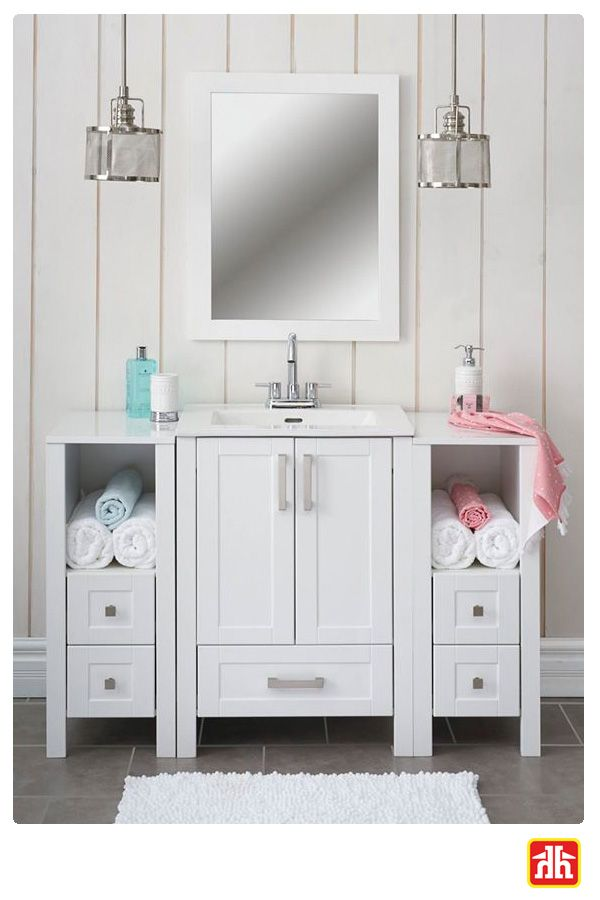 Do you feel like you need more space in your bathroom? This is the perfect vanity for you!